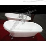 Acrylic Claw-foot Bathtub with Faucet
