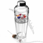 Acrylic Cocktail Shaker Set with Cocktail Picks