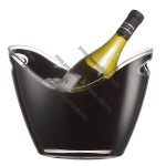 Acrylic Ice Bucket - 2 Bottle Black