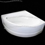 Acrylic Quarter-Circle Bathtub with Built-in Seat