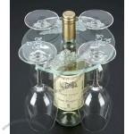 Acrylic Wine Rack with Glass Holder