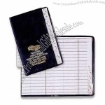 Address Book with Silver Imprint