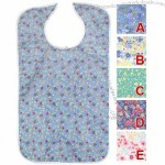 Adult Bib - Quilted Bib With Vinyl Barrier-Assorted Prints
