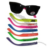 Adult rubber frame sunglasses with UV lens