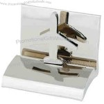 Airplane - Chrome metal business card holder.