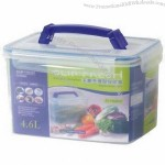 Airtight Clip Fresh Storage Food Container with 4.6L Capacity