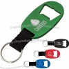 Aluminum bottle opener keychain with web strap