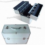 Aluminum Cosmetic Case with Trays Inside