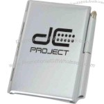 Aluminum jotter with metal pen