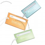 Aluminum Luggage Tag With Plastic Id Insert