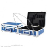 Aluminum Tool Case with Tool Bag and 6 Storage Compartments