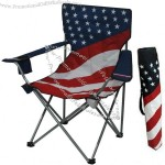 America Flag Folding Chair