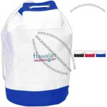 Anchor - Silkscreen - Polyester beach bag with mesh bottom and drawstring closure