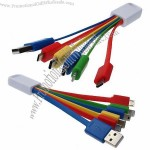 Android date,mini 5pin and type-C for iPhone in one cable