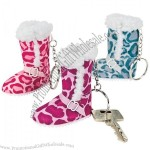 Animal Print Boot Key Chains