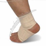 Ankle Bandage Support with Silkscreen Printing, Made of Cotton and Elastic