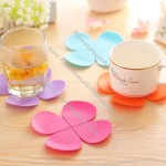 Anti-scald skid Silicone Petal Coaster