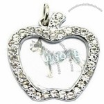 Apple Shape Photo Insert Blank Pet ID Tag for Dog