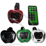 Apple Shaped MultiFunction Car MP3 Player -TF/SD/MMC Card