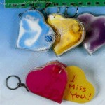 "Assorted 3"" heart shaped notebook key holder"