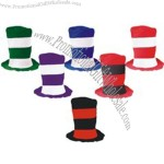Assorted color stove top hats,