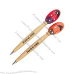 Assorted colored maraca tops on wooden pens