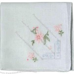 """Assorted Ladies Hankie Made Of Cotton, 12"""""""