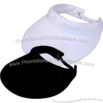 Athletic visor with elastic twisted strap closure