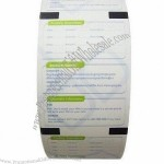 ATM paper roll with UV ink printing and high surface smoothness