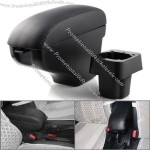 Attractive High Quality Black Leather Storage Box Armrest For 2007-2011 Nissan Versa Tiida Sedan & Hatchback