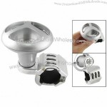 Auto Car Silver Tone Round Assist Power Handle Safty Aid Spinner Knob