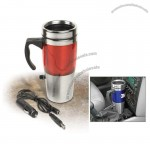 Auto Heated Travel Coffee Tea Mug Cup Red - 12V & USB