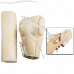 Auto Phoenix Feather Prints Gear Knob Hand Brake Cover Beige