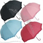 Automatic Opening Dome Umbrella with Decorative Dot