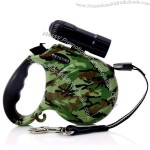Automatic Retractable Dog Leash with Flashlight
