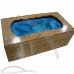 Automatic Shoe Cover Dispenser with Solid Wood Housing(3)