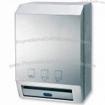 Automatic Tissue Dispenser with 304 Stainless Steel Construction and Satin Finish