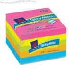 "Avery Lay Flat Sticky Note Removable, Self-adhesive, Residue-free - 3"" x 3"""