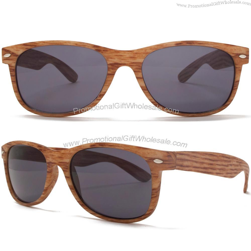 80c934acbe Baghdad Retro Wood Look Wayfarer Sunglasses in Oak Printing logo ...