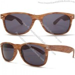 Baghdad Retro Wood Look Wayfarer Sunglasses in Oak