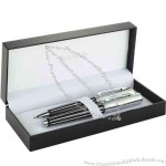 Balmain (R) Narbonne - Two-piece pen set with twist action and roller ball pens, black brass cap & barrel.