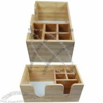 Bamboo Bar Caddy, Napkin Holder