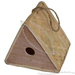 Bamboo Birdhouse Triangle Shaped