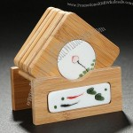 Bamboo & Ceramic Coaster Set