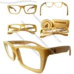 Bamboo Eyeglasses with Case