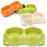 Bamboo Fiber Double Dog Bowl