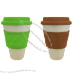 Bamboo Fiber Eco Cup with Slicone Lid