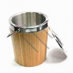 Bamboo Ice Bucket with Lid