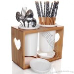 Bamboo Utensil Holder Spoon Holder