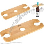 Bamboo Wine Bottle & Glasses Valet